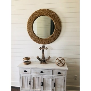 Palimar Sisal Rope and Glass Wall Mirror