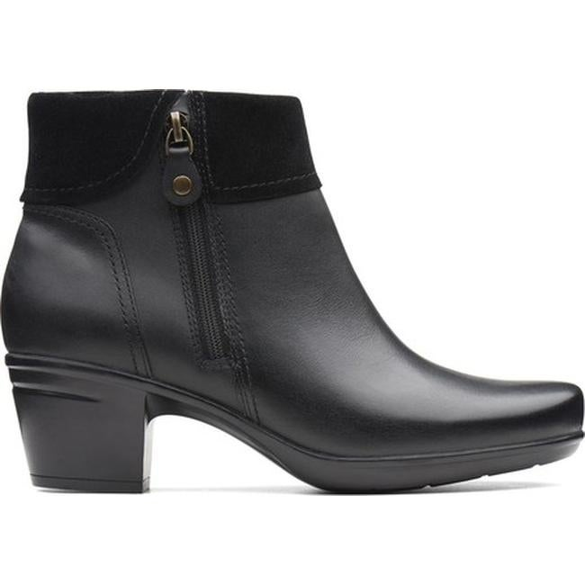 6994cfe8caf Shop Clarks Women's Emslie Twist Ankle Boot Black Leather/Suede Combination  - On Sale - Free Shipping Today - Overstock - 25586247