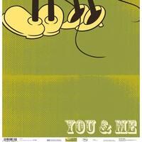 """Disney Single-Sided Paper 12""""X12""""-Minnie You & Me"""
