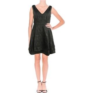 Lucy Paris Womens Cocktail Dress Double V Brocade