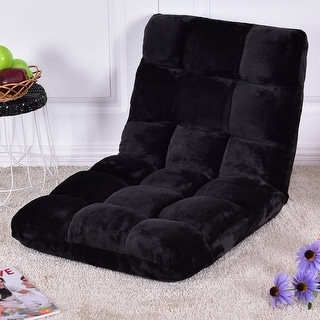 Costway Floor Folding Sofa Chair Lounger 5 Positon Adjustable Sleeper Bed Couch Recliner