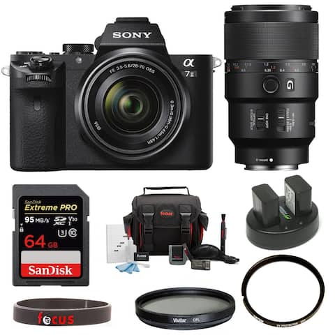 Sony Alpha a7II Mirrorless Camera with FE 28-70mm and 90mm Lens Bundle