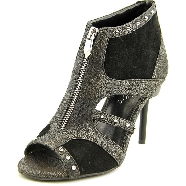 Fergie Decoy Women Open-Toe Suede Black Heels