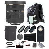 Sigma 10-20mm f/3.5 EX DC HSM Lens For Nikon w/ Photo Backpack & Remote Bundle