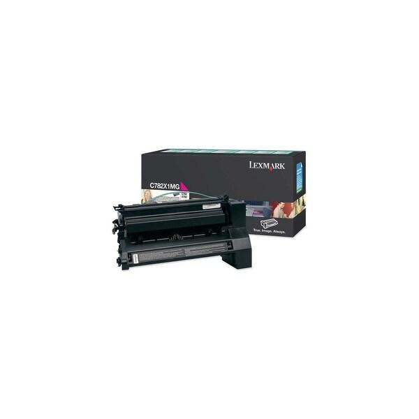 Lexmark C782X1MG Lexmark Extra High Yield Return Program Magenta Toner Cartridge - Magenta - Laser - 15000 Page - 1 Each