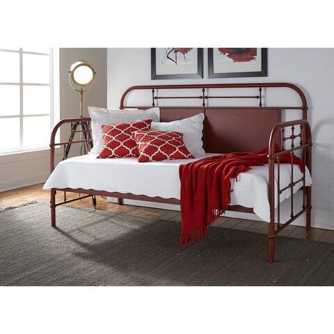 Carbon Loft Cauthen Vintage Series Red Twin Metal Day Bed