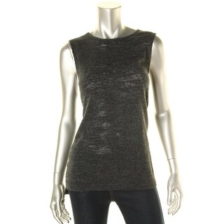 Lucky Brand Womens Textured Heathered Pullover Top