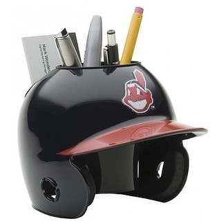 Cleveland Indians MLB Baseball Schutt Mini Batting Helmet Desk Caddy