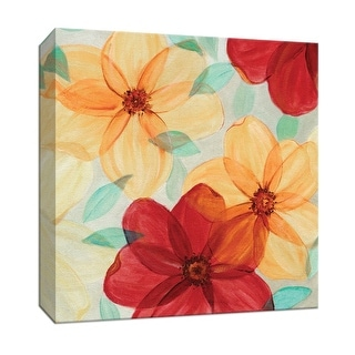 """PTM Images 9-147804  PTM Canvas Collection 12"""" x 12"""" - """"Flash of Spring II"""" Giclee Flowers Art Print on Canvas"""