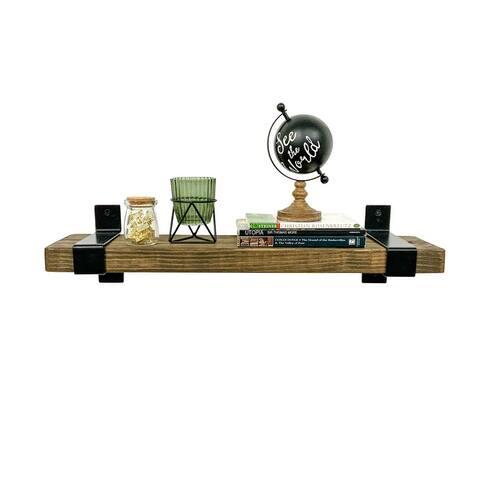 Del Hutson Designs Industrial Grace Wrap Floating Shelf, 24-Inch