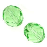 Czech Fire Polished Glass Beads 10mm Round Peridot (12)