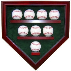 8 Baseball Homeplate Shaped Display Case