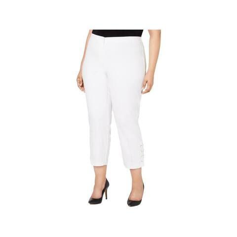 ALFANI Womens White Pants Size 22W