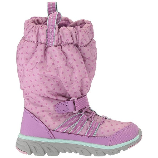 Kids Stride Rite Girls M2P SNEAKER Mid-Calf Bungee Snow Boots