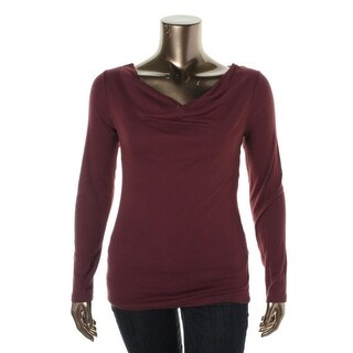 Three Dots Womens Pullover Top Modal Blend Long Sleeves