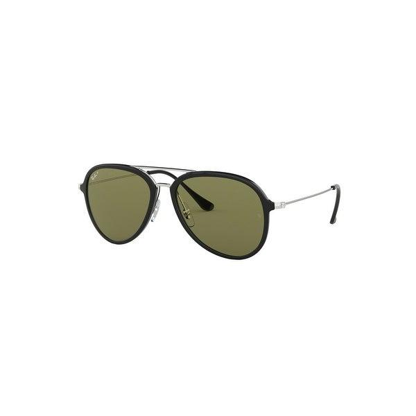 460a1696c58f2 Shop Ray-Ban Unisex Sunglasses In Black And Polar Green - Black and Polar  Green - One Size - Free Shipping Today - Overstock - 26301106