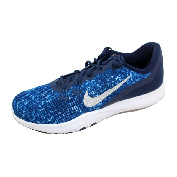 Nike Women's Flex Trainer 7 IG Binary Blue/Metallic Silver 917714-400 Size 10