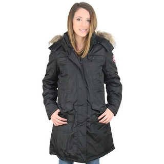 Canada Weather Gear Women's Faux Down Goose Jacket Coat