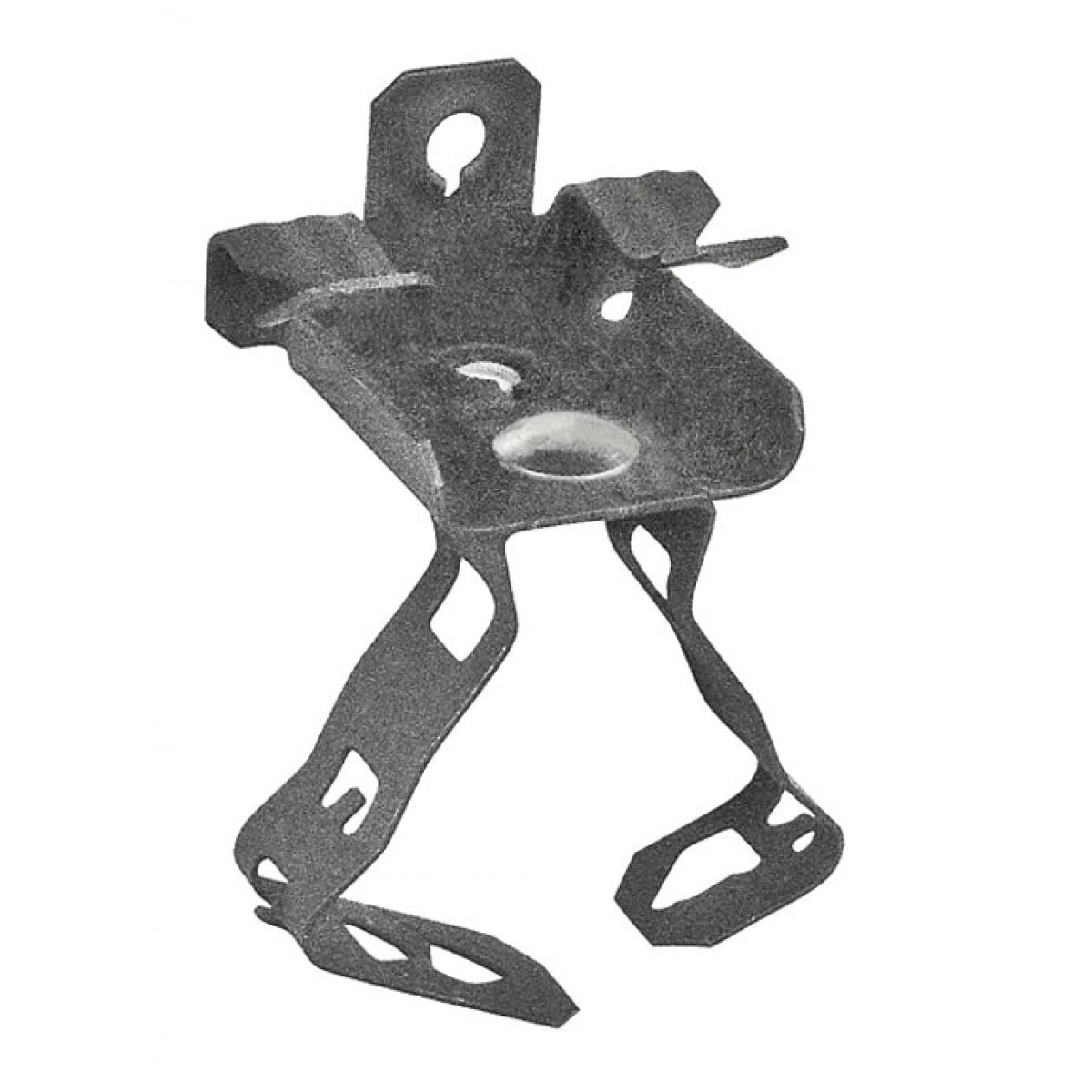 10 Pcs, 1-1/2 in. Conduit Hanger with 1/8 in. to 1/4 in. Thick Flange Mount, Spring Steel