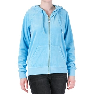 Juicy Couture Black Label Womens Velour Relaxed Hoodie