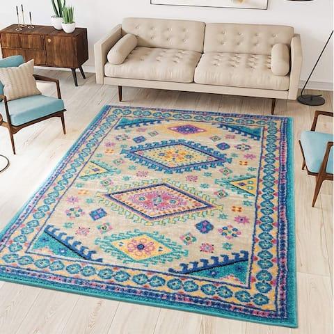 LoomBloom Persian Polypropylene Blaise Traditional Oriental Area Rug Tan, Beige Color