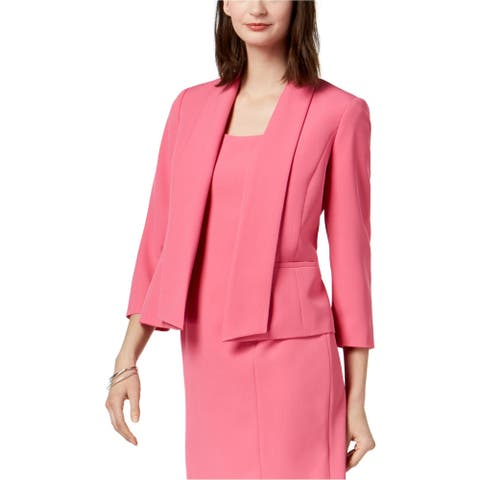 Kasper Womens Shawl Collar Blazer Jacket