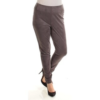 Womens Gray Casual Skinny Pants Size 14