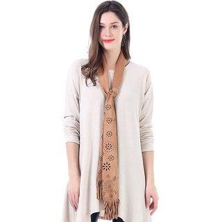 Mad Style Brown Faux Suede Skinny Scarf