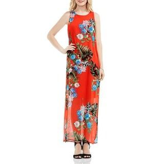 Vince Camuto Womens Maxi Dress Chiffon Floral Print