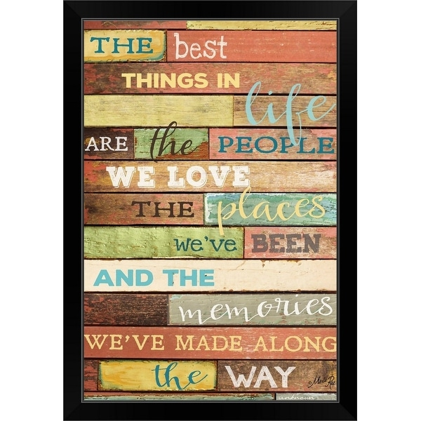 Marla Rae Economy Framed Print with Standard Black Frame entitled The Best Things