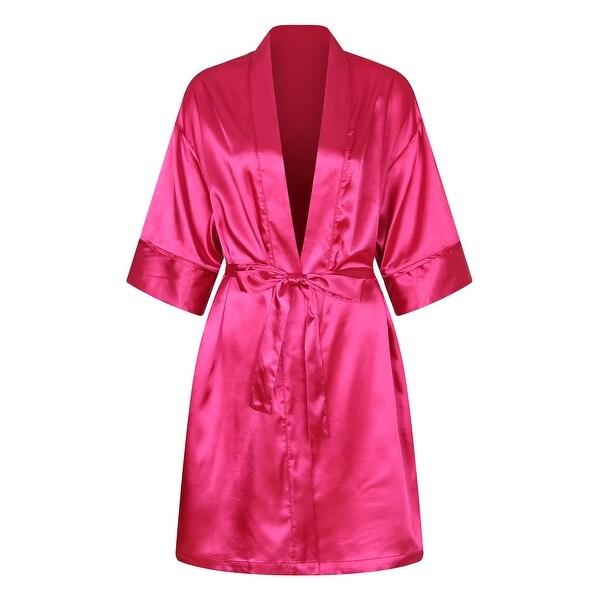 Richie House Women's Satin Bathrobe Robe with Belt