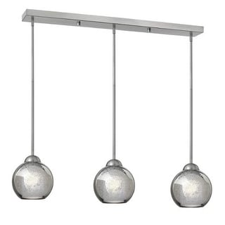 Fredrick Ramond FR37515 3 Light Linear Pendant with Faux Mercury glass from the Vivo Collection