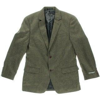 Shaquille O'Neal Mens Wool Notch Collar Two-Button Suit Jacket