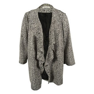 Calvin Klein Women's Open Front Ruffled Jacket