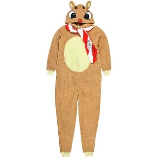 Character Arts Rudolph The Red Nosed Reindeer Women's Holiday License Pajama Unison Suit