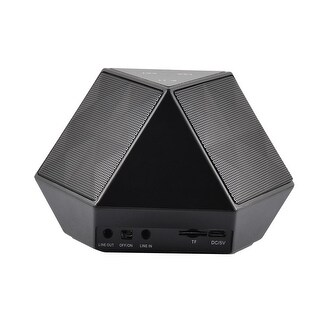 Diaphragm NFC Touch Control Connected Super Bass bluetooth Speakers Black