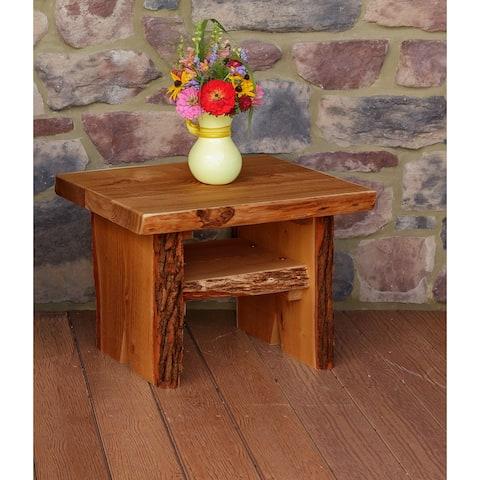 Live Edge Locust Wood Sunrise Thicket Side Table