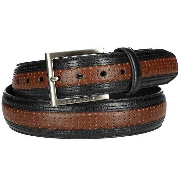 PGA TOUR Men's Two Tone Perforated Belt