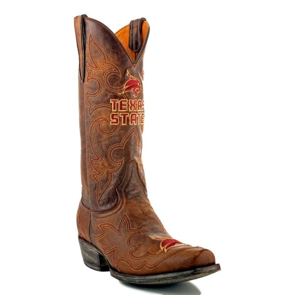 Gameday Boots Mens College Team Texas State Bobcats Brass