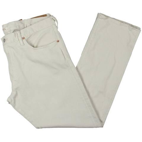 Polo Ralph Lauren Mens Varick Straight Leg Jeans Denim Slim - Stone