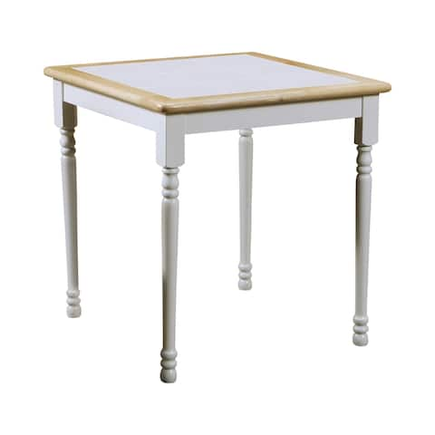 Wilmar Way Natural Brown and White Square Dining Table