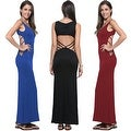 Women's Casual Summer Fashion Hollow Open Back Sleeveless Long Maxi Dress - Thumbnail 2