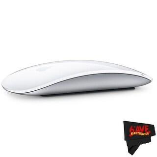 Apple Magic Mouse 2 MLA02LL/A + MicroFiber Cloth Bundle