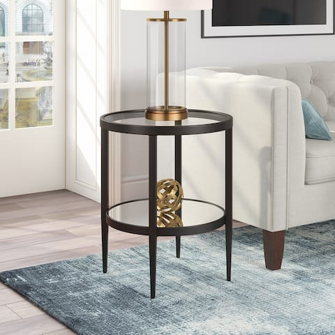 Silver Orchid Carol Mirrored Side Table