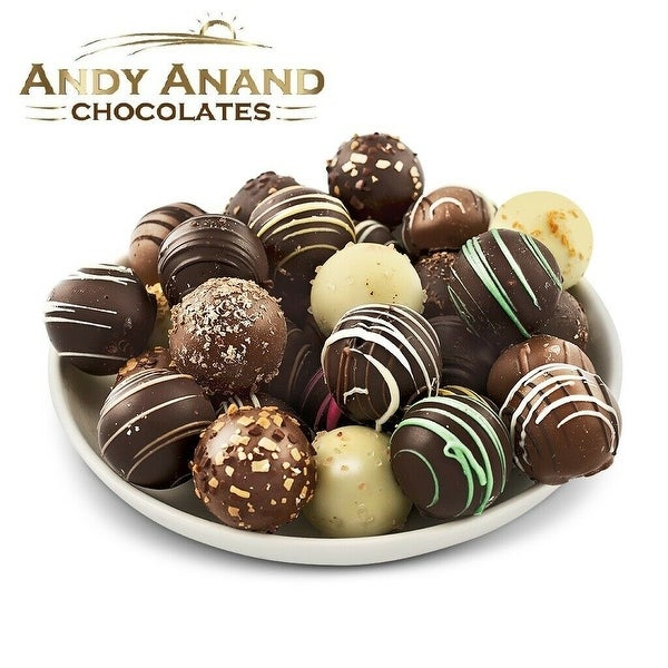 Andy Anand Truffles Delectable Variety of 32 Handmade Artisan Truffles Gift Boxed & Greeting Card. Opens flyout.