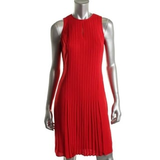 Ralph Lauren Womens Petites Crepe Sleeveless Cocktail Dress - 2p