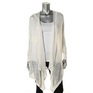 Donna Karan Womens Petites Sweater Mesh Open Front - ps