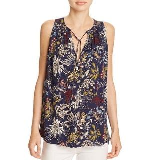 WAYF Womens Mason Blouse Floral Print Sleeveless