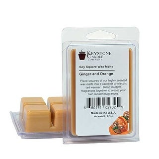 Ginger and Orange Soy Tarts 3.5 in. long x 2.5 in. wide x 1 in. thick Pack of 3