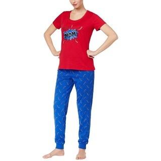Family PJs Family Pajamas Womens Super Mom Pajama Set Thunder Bolts